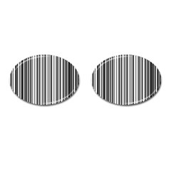 Barcode Pattern Cufflinks (Oval)