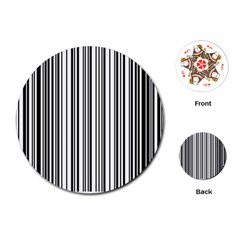 Barcode Pattern Playing Cards (Round)