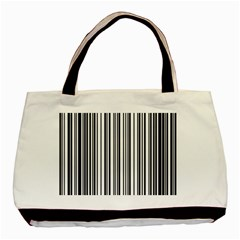 Barcode Pattern Basic Tote Bag (Two Sides)