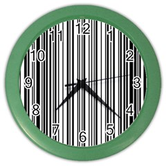 Barcode Pattern Color Wall Clocks