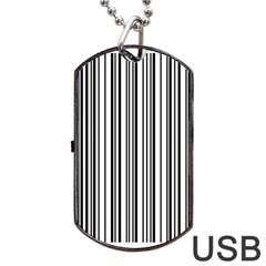 Barcode Pattern Dog Tag USB Flash (One Side)