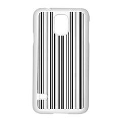 Barcode Pattern Samsung Galaxy S5 Case (White)