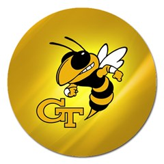 Georgia Institute Of Technology Ga Tech Magnet 5  (Round)