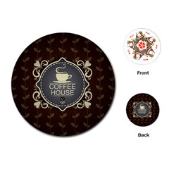 Coffee House Playing Cards (Round)