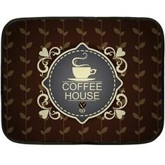 Coffee House Fleece Blanket (Mini)