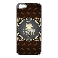 Coffee House Apple iPhone 5 Case (Silver)