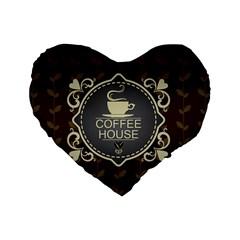 Coffee House Standard 16  Premium Heart Shape Cushions
