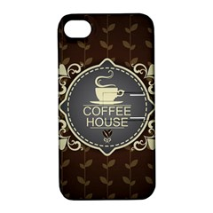 Coffee House Apple iPhone 4/4S Hardshell Case with Stand