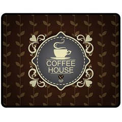 Coffee House Double Sided Fleece Blanket (Medium)