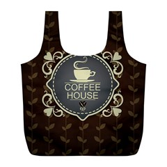 Coffee House Full Print Recycle Bags (L)