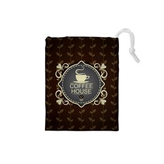Coffee House Drawstring Pouches (Small)