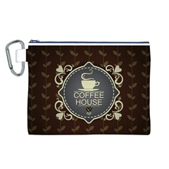 Coffee House Canvas Cosmetic Bag (L)