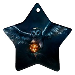 Owl And Fire Ball Ornament (Star)