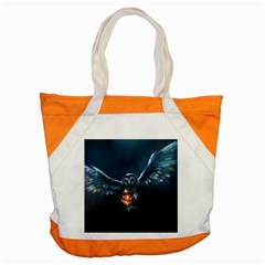 Owl And Fire Ball Accent Tote Bag