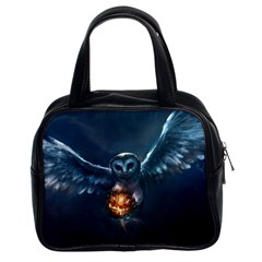 Owl And Fire Ball Classic Handbags (2 Sides)