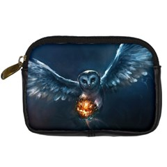 Owl And Fire Ball Digital Camera Cases