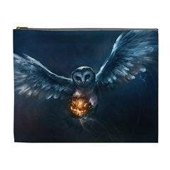 Owl And Fire Ball Cosmetic Bag (XL)