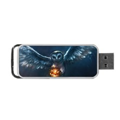Owl And Fire Ball Portable USB Flash (Two Sides)