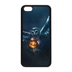Owl And Fire Ball Apple iPhone 5C Seamless Case (Black)