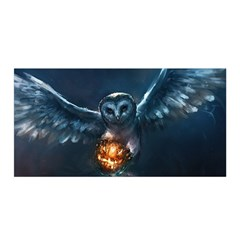 Owl And Fire Ball Satin Wrap