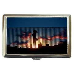 Art Sunset Anime Afternoon Cigarette Money Cases