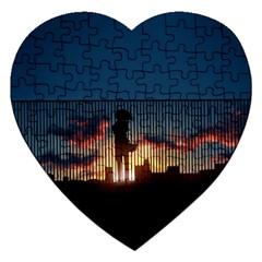 Art Sunset Anime Afternoon Jigsaw Puzzle (Heart)