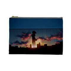 Art Sunset Anime Afternoon Cosmetic Bag (Large)