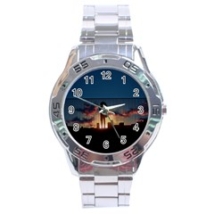 Art Sunset Anime Afternoon Stainless Steel Analogue Watch
