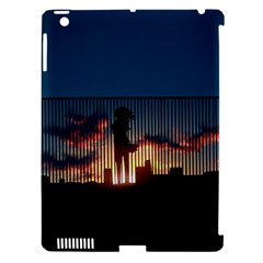 Art Sunset Anime Afternoon Apple iPad 3/4 Hardshell Case (Compatible with Smart Cover)