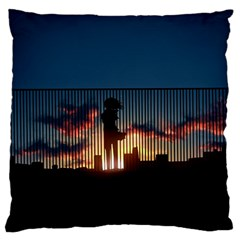 Art Sunset Anime Afternoon Large Cushion Case (Two Sides)