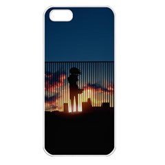 Art Sunset Anime Afternoon Apple iPhone 5 Seamless Case (White)
