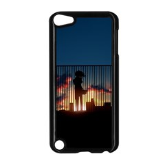 Art Sunset Anime Afternoon Apple iPod Touch 5 Case (Black)