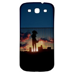 Art Sunset Anime Afternoon Samsung Galaxy S3 S III Classic Hardshell Back Case