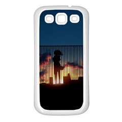 Art Sunset Anime Afternoon Samsung Galaxy S3 Back Case (White)