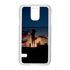 Art Sunset Anime Afternoon Samsung Galaxy S5 Case (White)