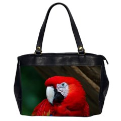 Scarlet Macaw Bird Office Handbags (2 Sides)