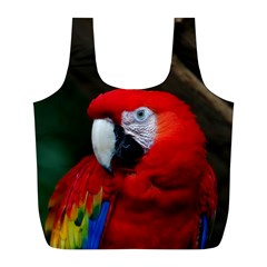 Scarlet Macaw Bird Full Print Recycle Bags (L)