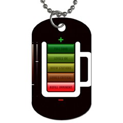 Black Energy Battery Life Dog Tag (One Side)