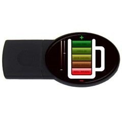 Black Energy Battery Life USB Flash Drive Oval (2 GB)