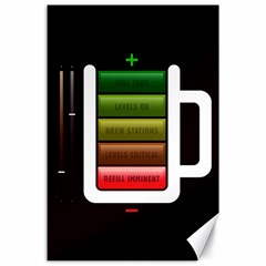 Black Energy Battery Life Canvas 24  x 36