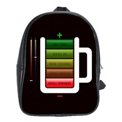Black Energy Battery Life School Bags(Large)
