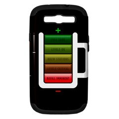 Black Energy Battery Life Samsung Galaxy S III Hardshell Case (PC+Silicone)