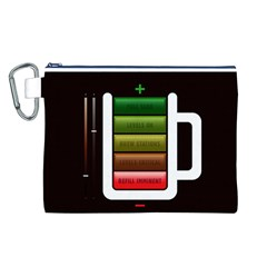Black Energy Battery Life Canvas Cosmetic Bag (L)