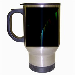 Planets In Space Stars Travel Mug (Silver Gray)