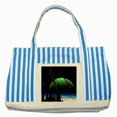 Planets In Space Stars Striped Blue Tote Bag