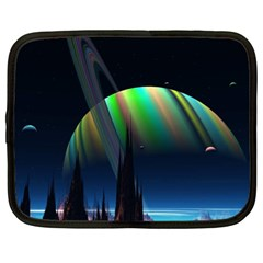 Planets In Space Stars Netbook Case (XL)