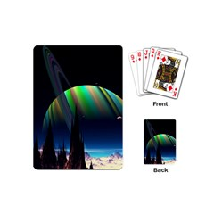 Planets In Space Stars Playing Cards (Mini)