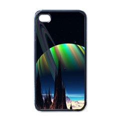 Planets In Space Stars Apple iPhone 4 Case (Black)