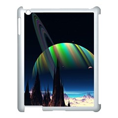Planets In Space Stars Apple iPad 3/4 Case (White)