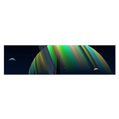 Planets In Space Stars Satin Scarf (Oblong)